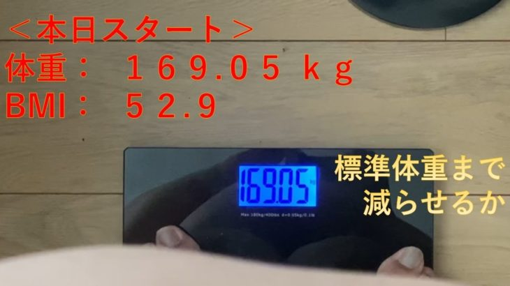 【ダイエット】169kgから始めるダイエット。健康になります
