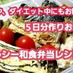 妊娠中、ダイエット中にもお勧め! 5日分作りおき! ヘルシー和食弁当レシピ!