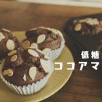 【糖質制限ダイエット】混ぜて焼くだけ!お手軽ココアマフィン作り // Low Carb cocoa  muffin