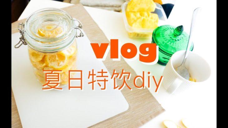 居家vlog   最便宜的美白方法   自制桃子酒&柠檬水
