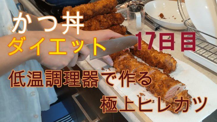 かつ丼ダイエット 17日目/極上ヒレカツ丼